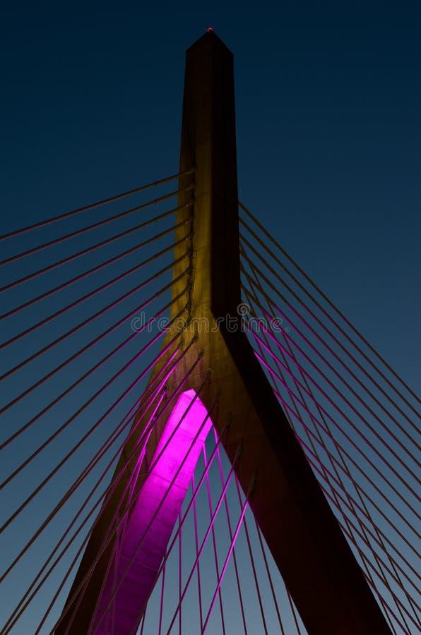 Soute de Zakim à Boston, le Massachusetts, Etats-Unis image stock