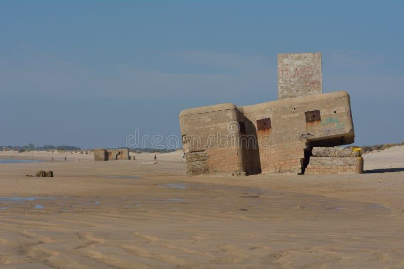 Soute sur la plage photographie stock libre de droits