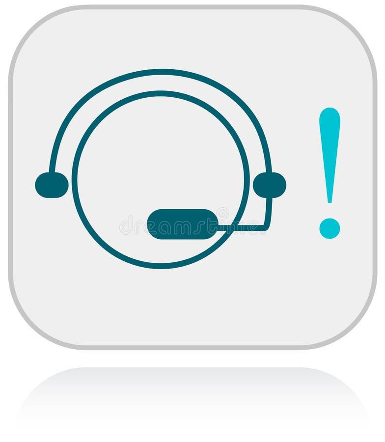 Soutenez pour icône clients de schéma illustration de vecteur