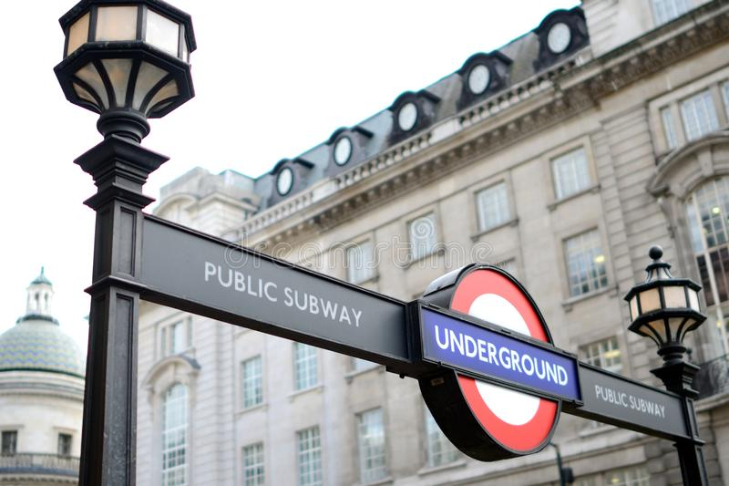 Souterrain à Londres photographie stock