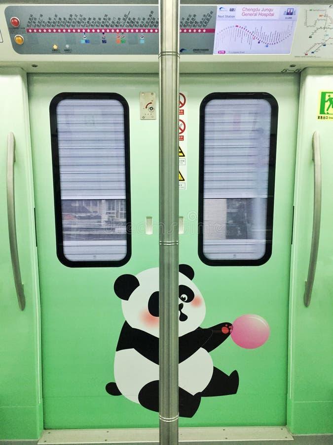 souterrain de Chengdu, train spécial de panda photo libre de droits