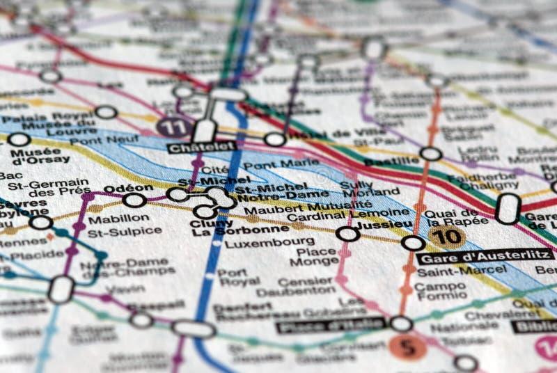 souterrain de Paris de carte photos libres de droits