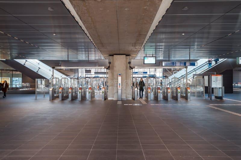Souterrain/métro/station de métro Amsterdam Noord, Nederland image libre de droits