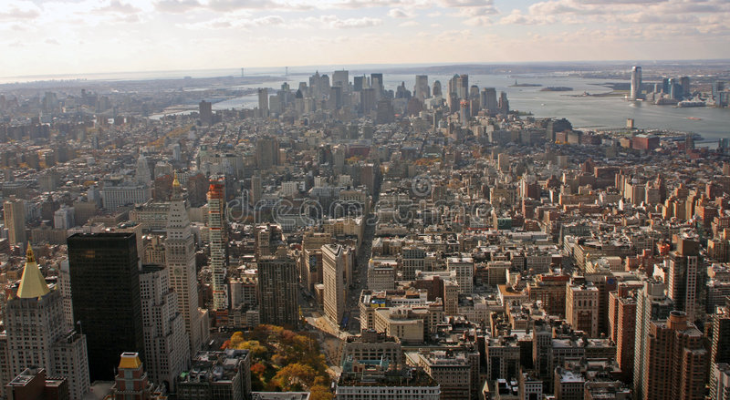 South Aerial Manhattan stock photos