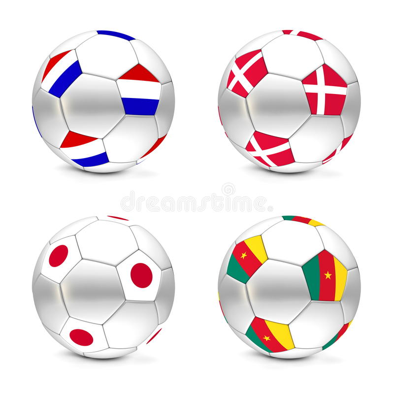 Download South Africa 2010 - Flags And Balls Group E Stock Illustration - Image: 13170837