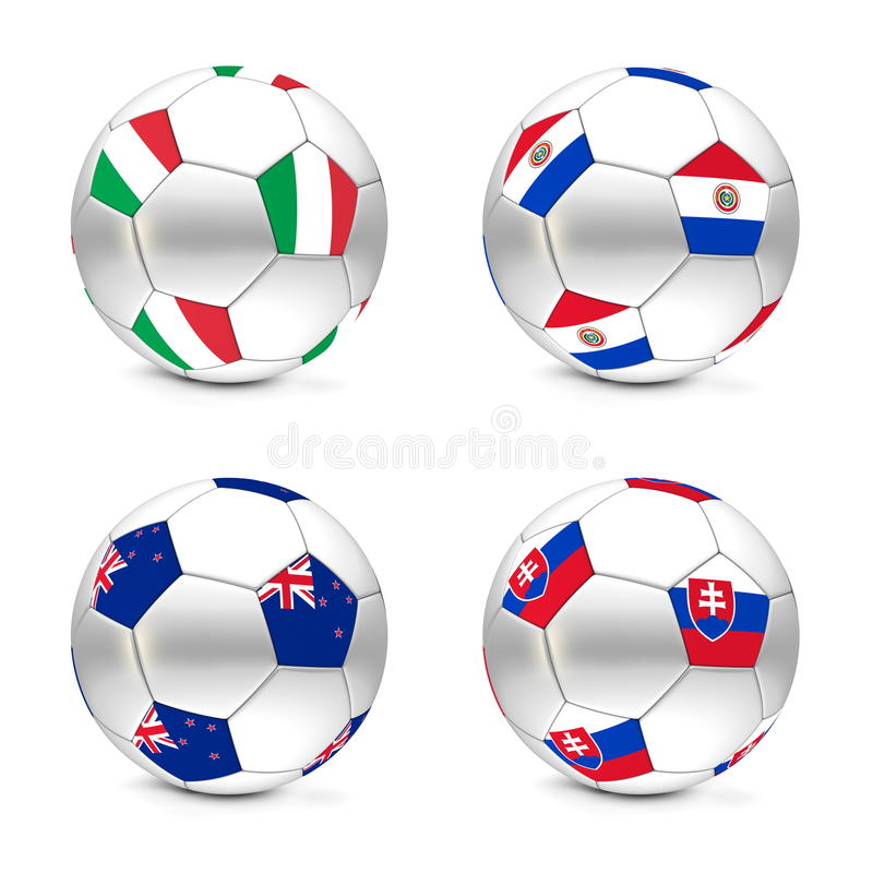 Download South Africa 2010 - Flags And Balls Group F Stock Illustration - Image: 13170838