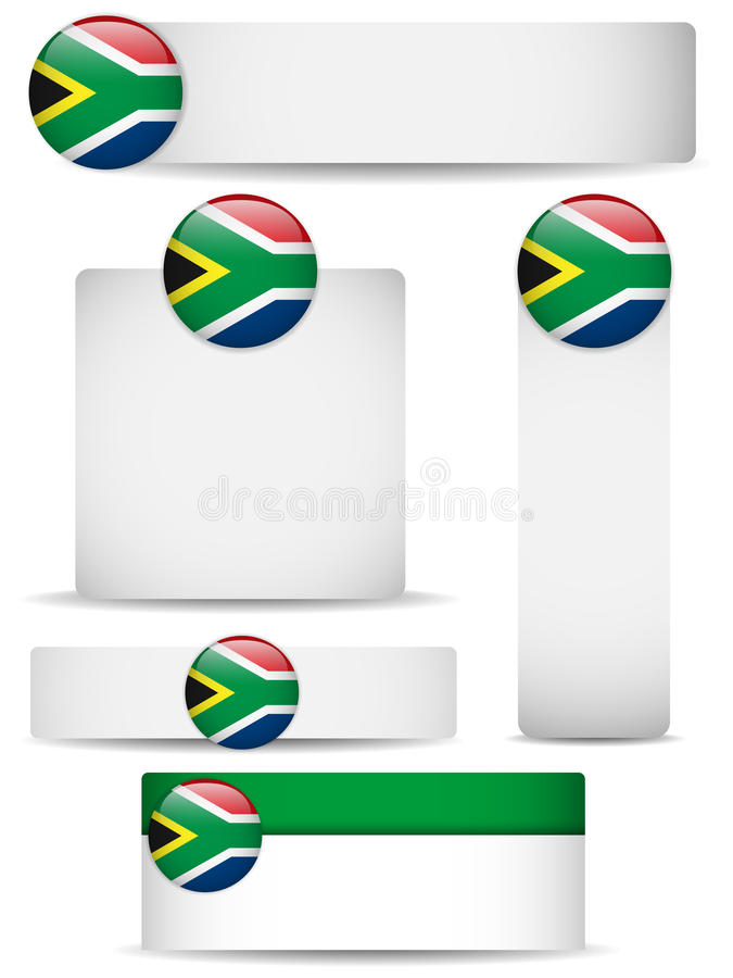South Africa Country Set of Banners stock illustration