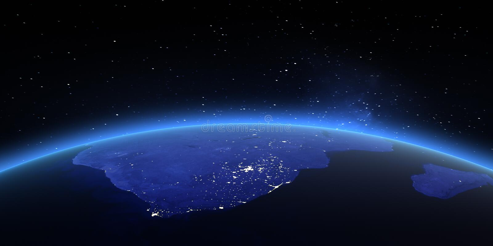 South Africa. Elements of this image furnished by NASA stock illustration