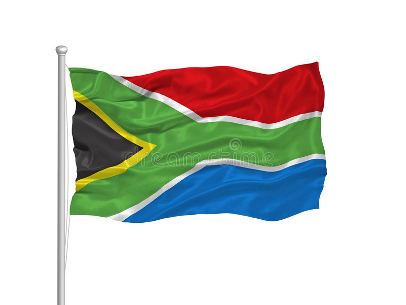 South Africa Flag 2 royalty free illustration