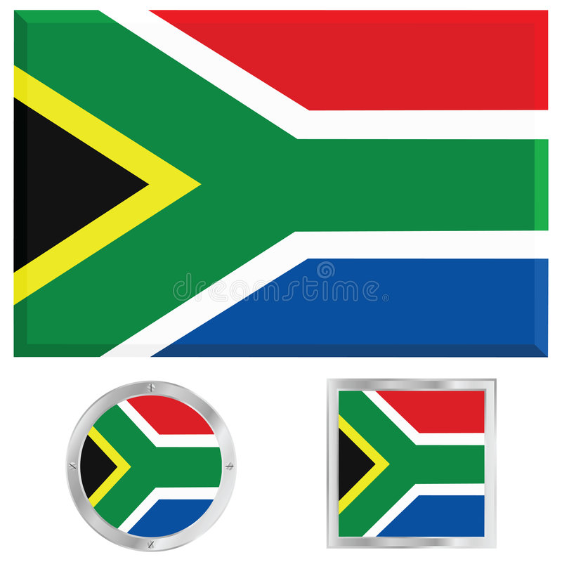 South Africa flag vector illustration