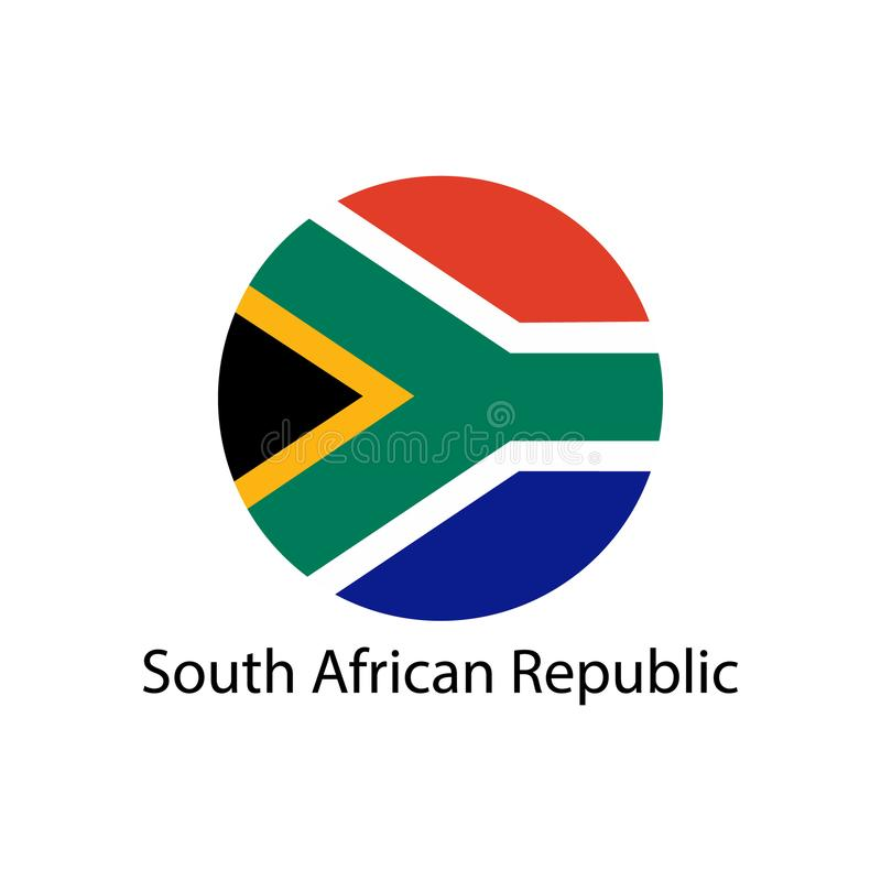 South Africa flag in circle shape. royalty free illustration