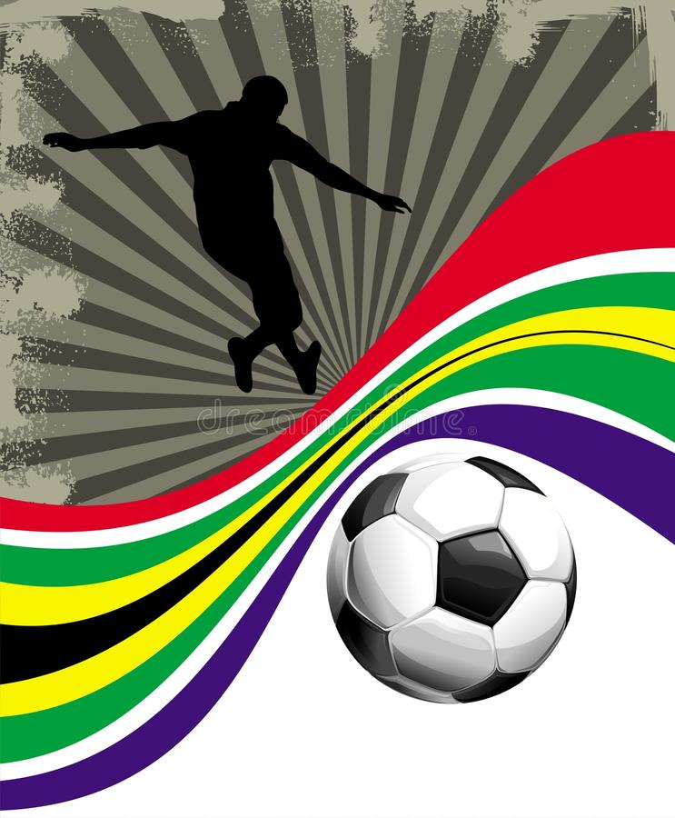 South Africa Flag & Soccer Ball Background Royalty Free Stock Images