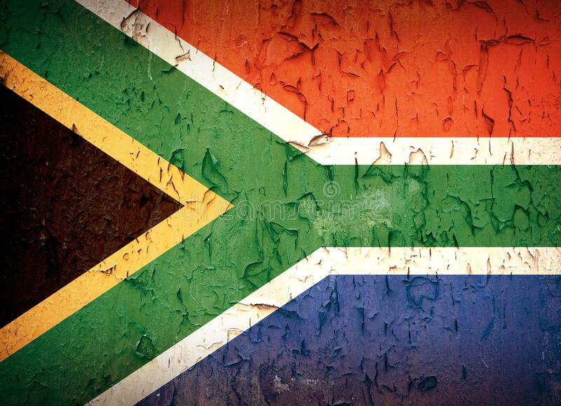 South African flag vintage royalty free stock photography