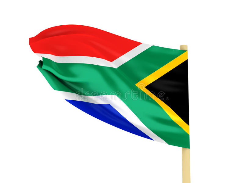 South Africa flagga vektor illustrationer