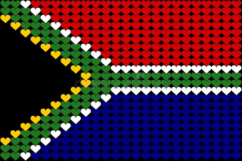 South Africa Heart Flag Royalty Free Stock Photography