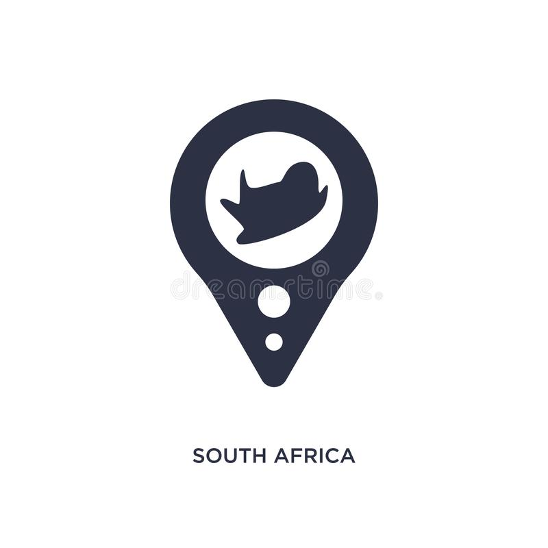 south africa icon on white background. Simple element illustration from africa concept vector illustration