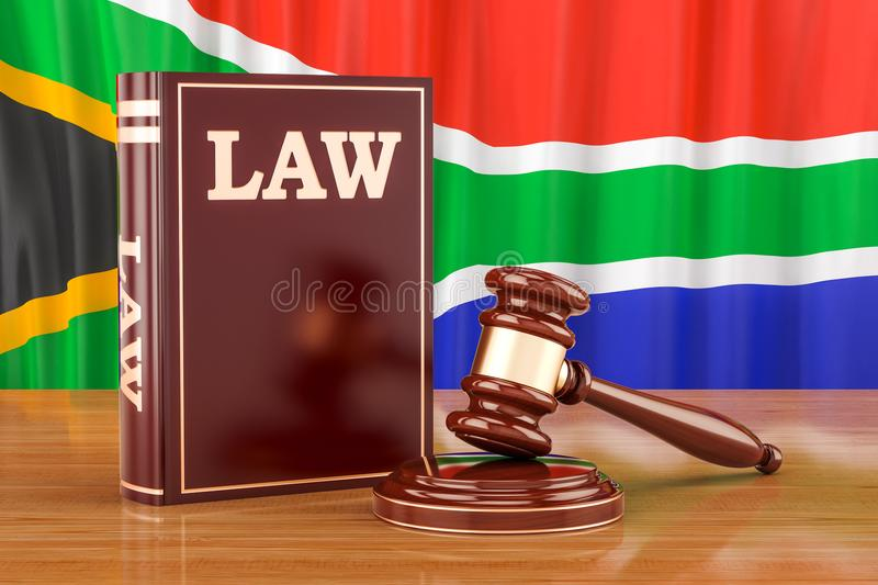 South Africa law and justice concept, 3D rendering stock illustration