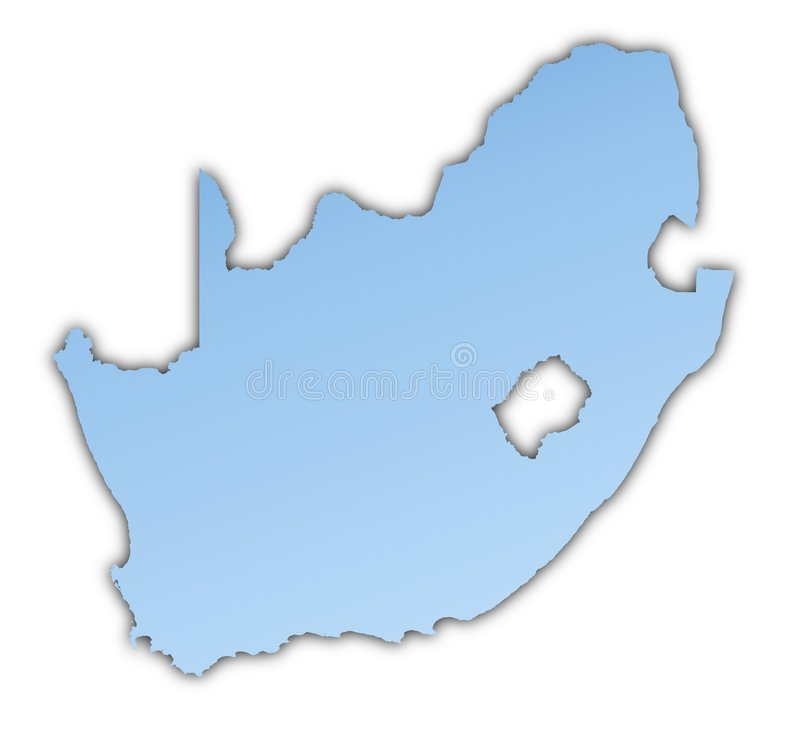 South Africa map stock illustration