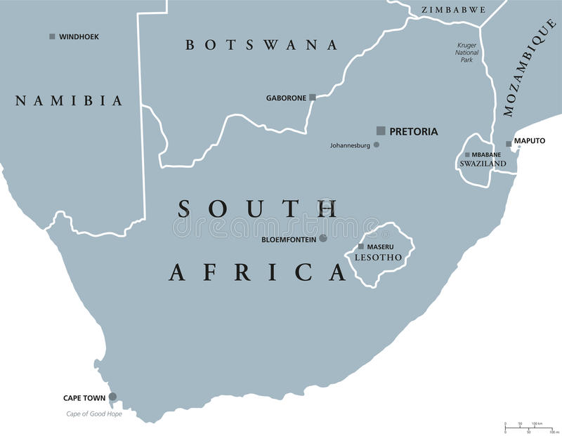 South Africa Political Map Stock Vector Image Of Cape - South africa political map