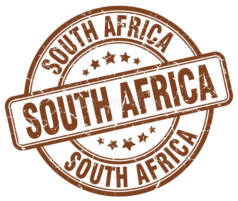 South Africa stamp. South Africa round grunge stamp isolated on white background. South Africa royalty free illustration