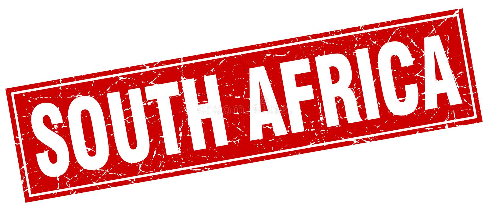 South Africa stamp. South Africa square grunge stamp. South Africa sign. South Africa vector illustration