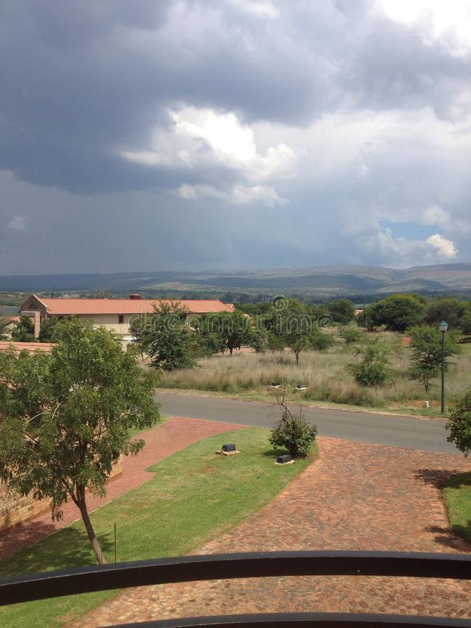 South Africa villa balcony view stock images