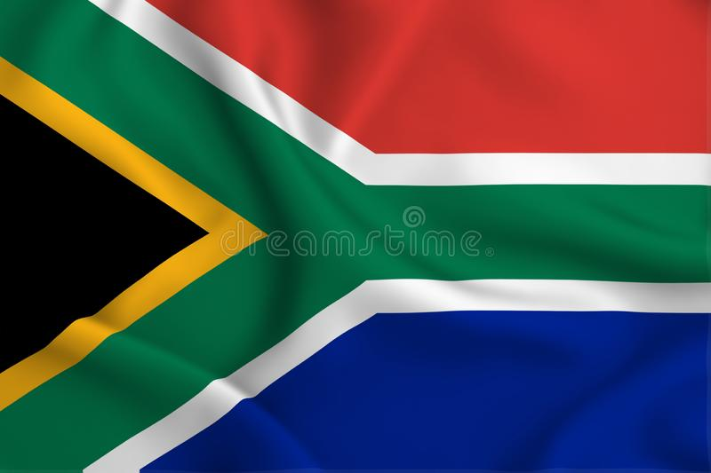 South africa flag illustration. South africa waving and closeup flag illustration. Perfect for background or texture purposes vector illustration