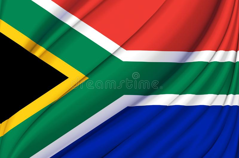 South Africa waving flag illustration. Countries of Africa. Perfect for background and texture usage vector illustration