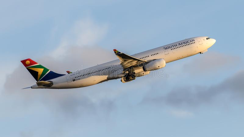 South African Airlines Airbus A330 royalty free stock photography