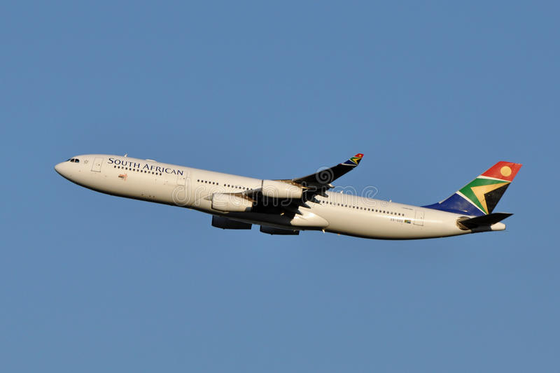 South African Airways Airbus A340 Taking Off Editorial Stock Image