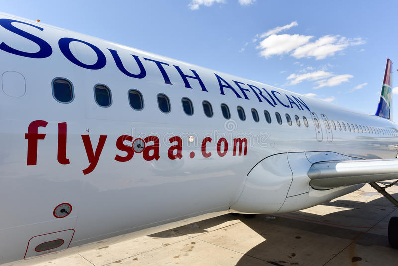 South African Airways Plane stock photography