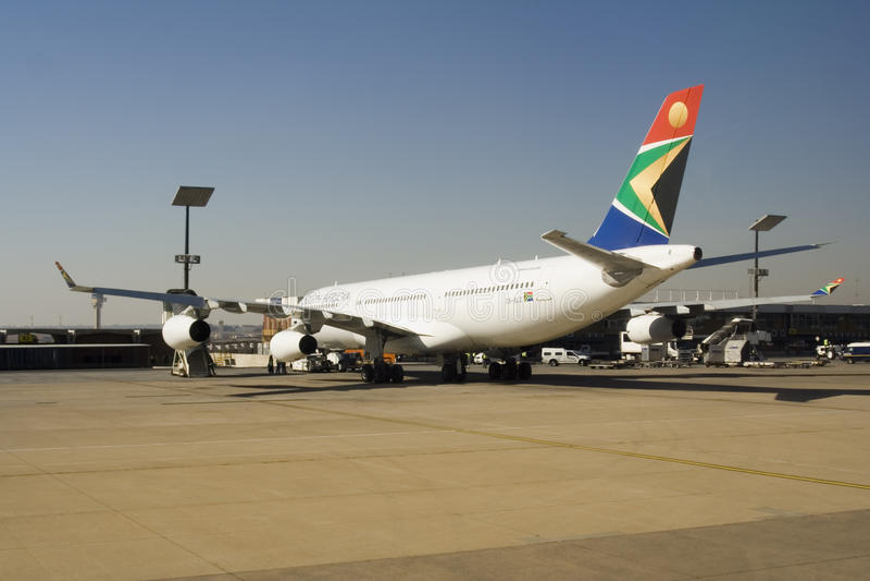 South African Airways surfacent photo libre de droits