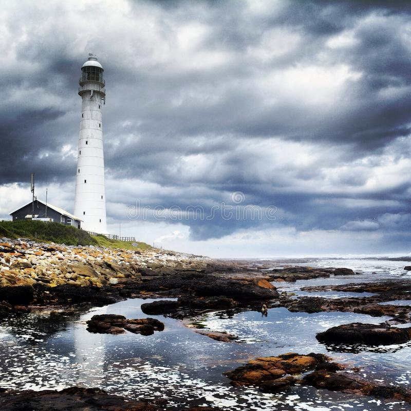 South African Coastline. Kommetjie Lighthouse South stock photography