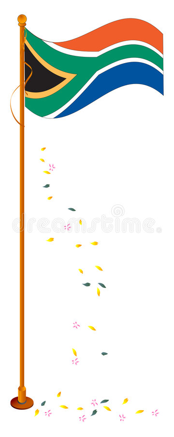 South african flag. Vector illustration of south african flag vector illustration