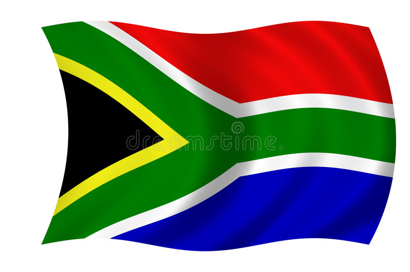 South african flag. Waving flag of south africa - south african flag