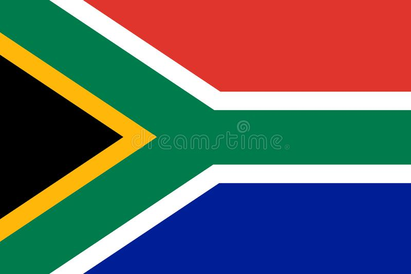 South African  vector flag. The flag of South Africa Republic. Pretoria royalty free illustration