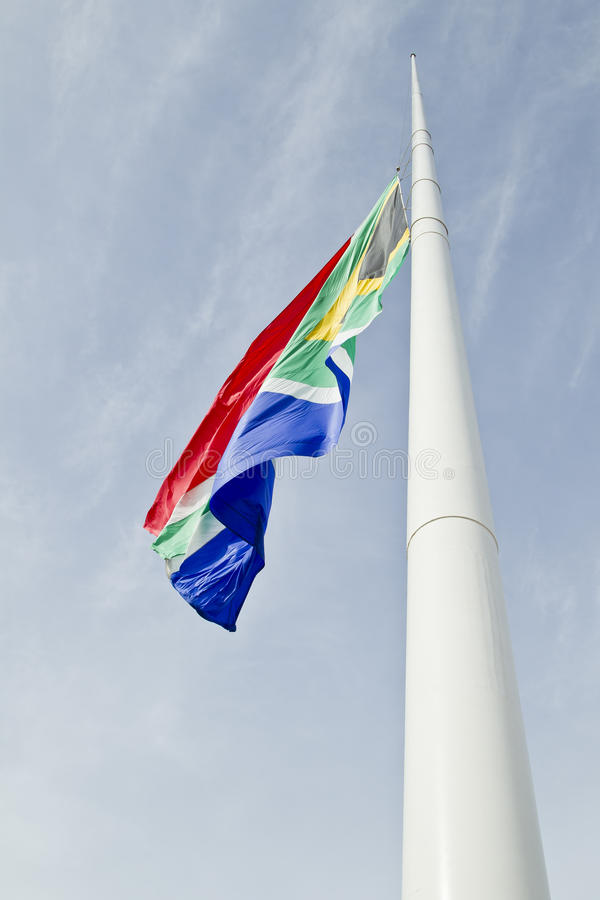 Download South African Flag At Half Mast Royalty Free Stock Photo - Image: 36113615