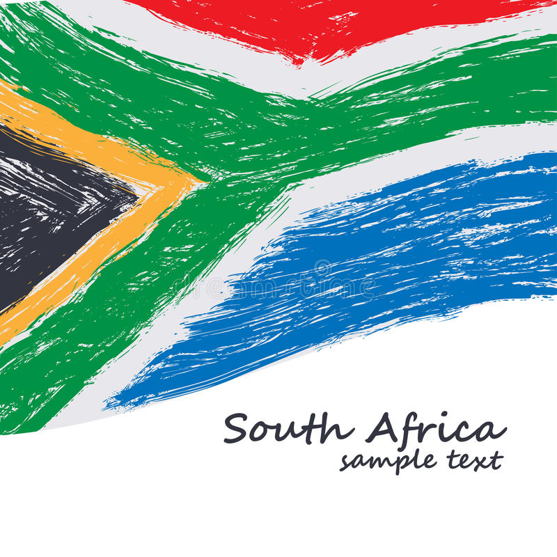 South African flag. Vector grunge texture background vector illustration