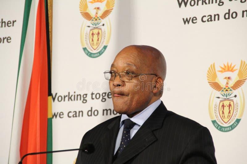 South African President Jacob Zuma licks his lips royalty free stock photos
