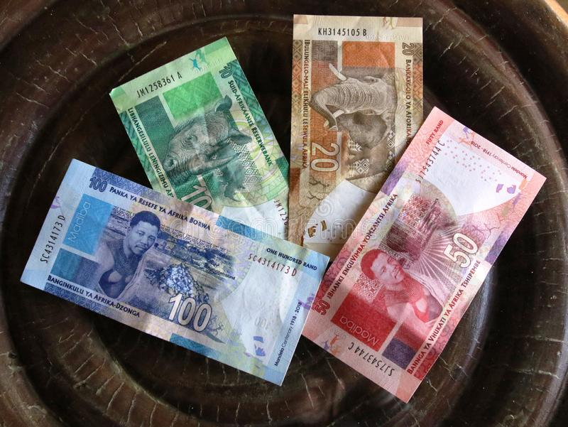 South African Rand banknotes. Assortment royalty free stock images
