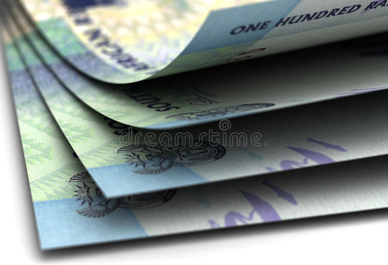 South African Rand Closeup. Computer generated image stock photography