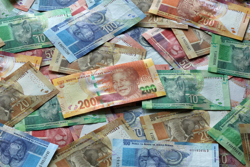 South African Rand. Different south african rand banknotes royalty free stock photography