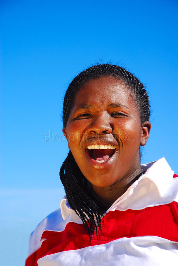 South African woman stock photography