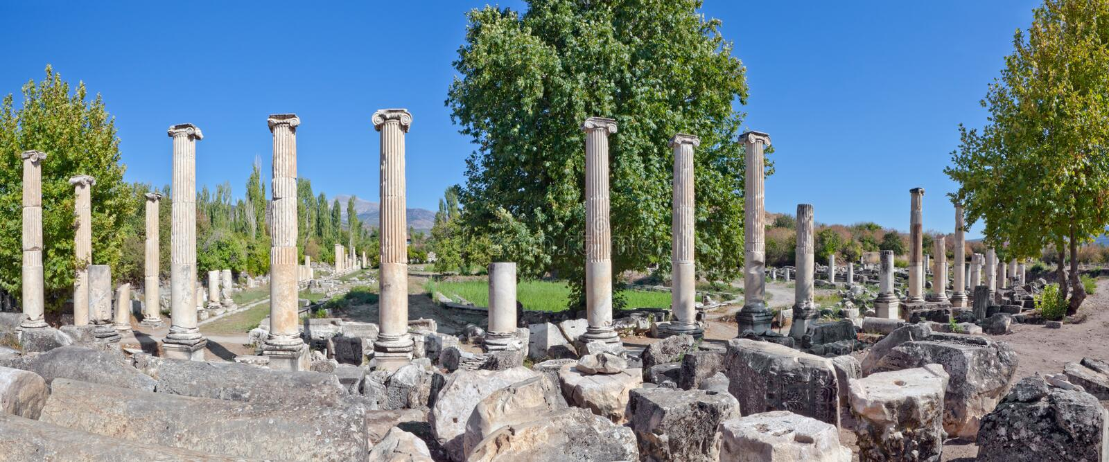 Download South Agora - Aphrodisias stock image. Image of heritage - 22549143