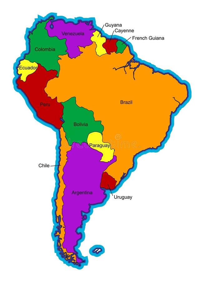 South America vector illustration