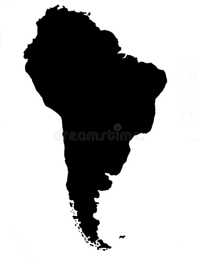 South America blind map stock photos