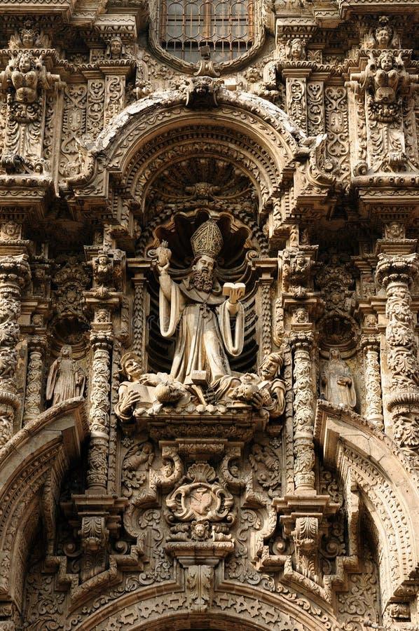 South America - Iglesia de san Agustin in Lima, Peru stock image