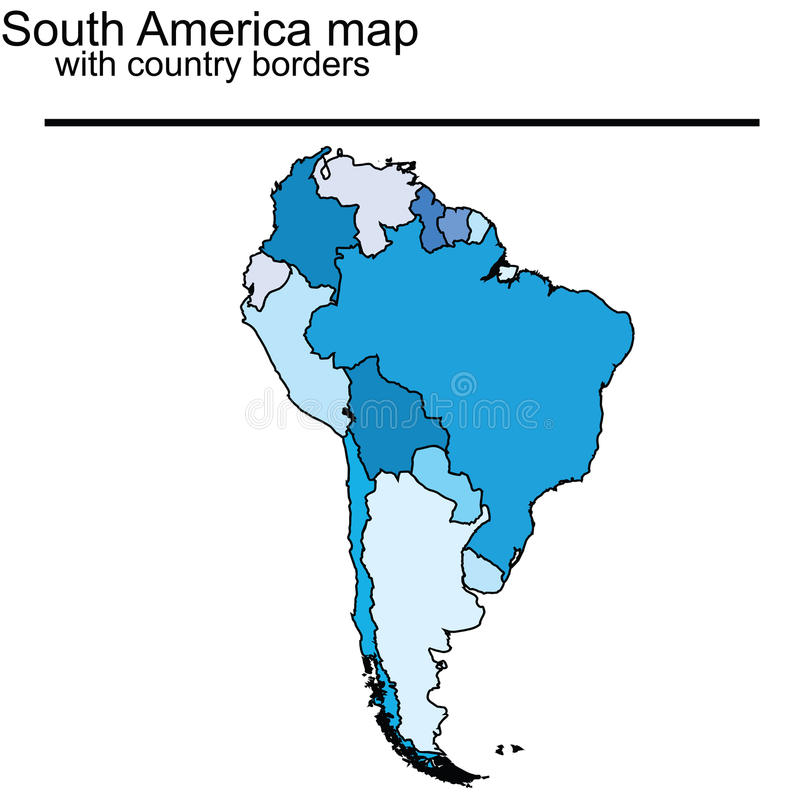 Download South America map stock illustration. Image of chile - 14003804