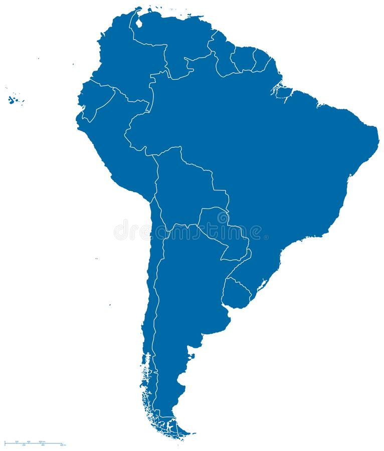 Download South America Map Outline stock vector