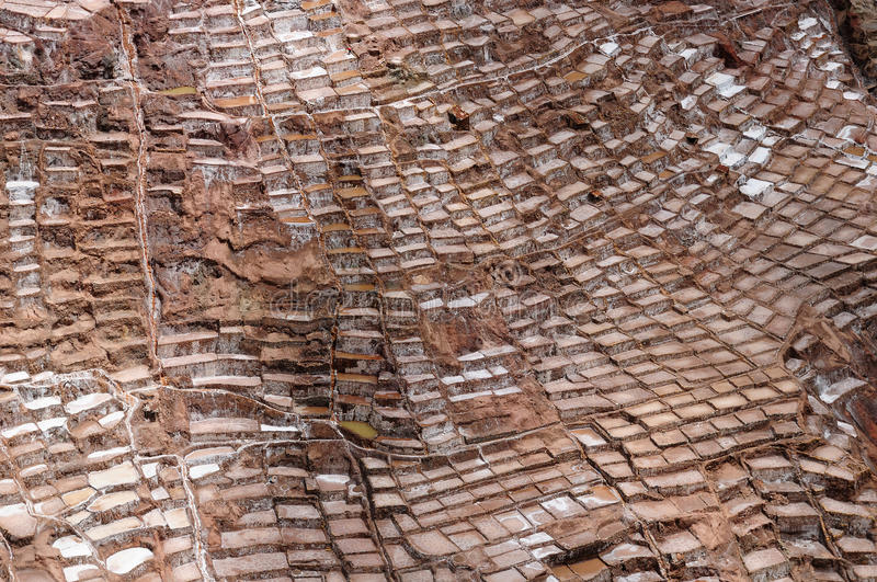 South America, Peru, Salt mine in the Sacred Valley royalty free stock photos